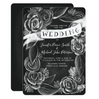 Convite floral do casamento do quadro