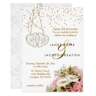 Convite floral do casamento do rosa do rosa