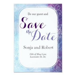 Convite floral do casamento do watercol azul e