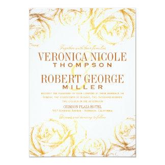 Convite floral do casamento dos rosas românticos