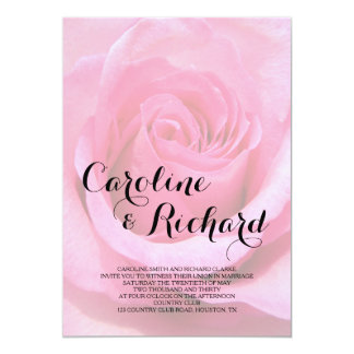Convite floral do casamento - foto do rosa do rosa