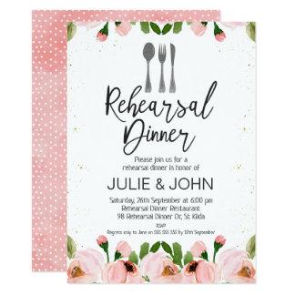 convite floral do jantar de ensaio da aguarela