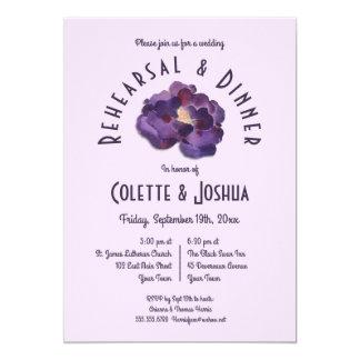 Convite floral do jantar de ensaio da ameixa da