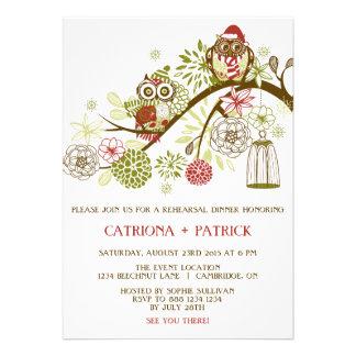 Convite floral do jantar de ensaio das corujas do