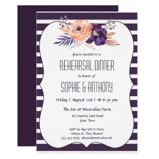 Convite floral do jantar de ensaio do casamento da