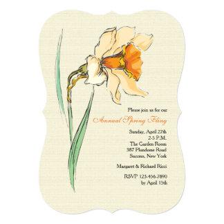 Convite floral do narciso