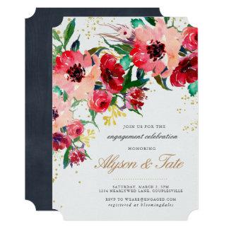Convite floral do noivado