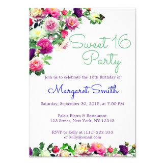 Convite floral elegante bonito do doce 16