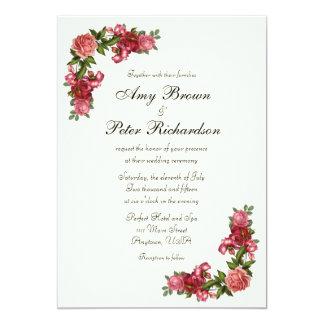 Convite floral elegante simples do casamento