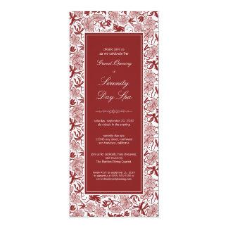 Convite floral extravagante da grande inauguração