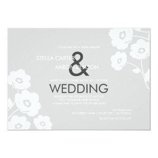Convite floral moderno do casamento