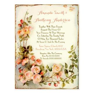 Convite floral romântico do casamento do orçamento