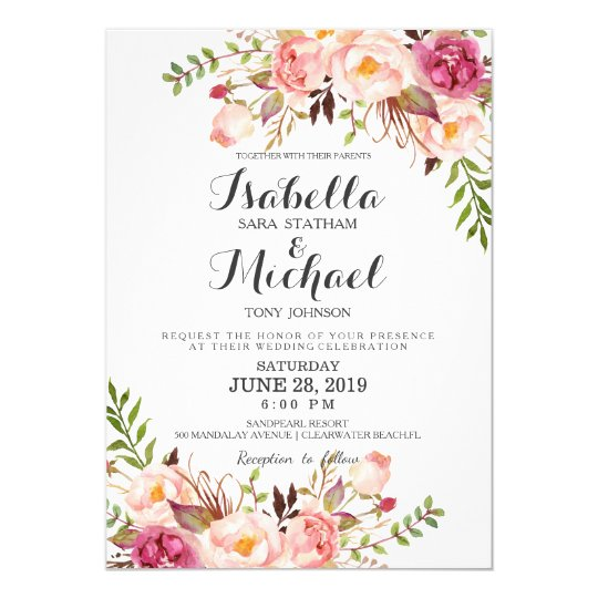 Invitation Party Wedding Free Vector Graphic On Pixabay: Convite Floral Rústico Do Casamento
