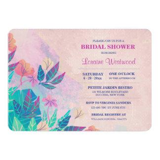 Convite floral tópico