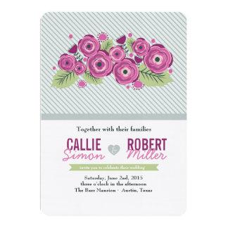 Convite floral violeta do casamento