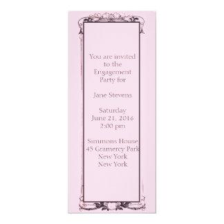 Convite florido da festa de noivado de Paris
