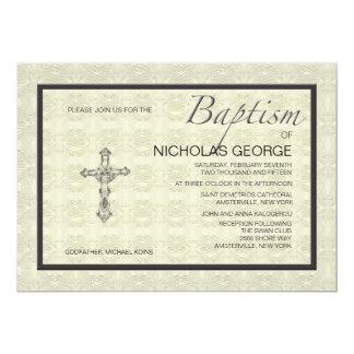 Convite formal baptismal convite 12.7 x 17.78cm