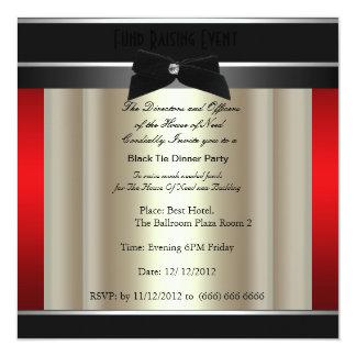 Convite formal da caridade do traje de cerimónia