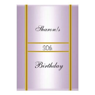Convite formal da festa de aniversário cor-de-rosa