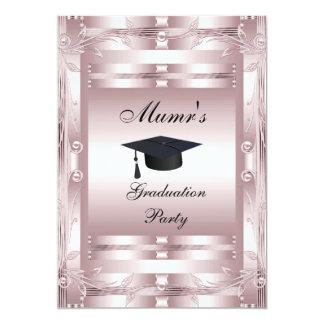 Convite formal da festa de formatura da mãe