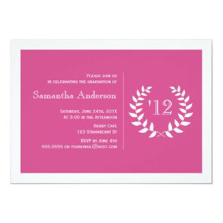 Convite formal da graduação do louro - rosa