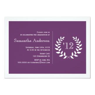 Convite formal da graduação do louro - roxo