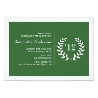 Convite formal da graduação do louro - verde