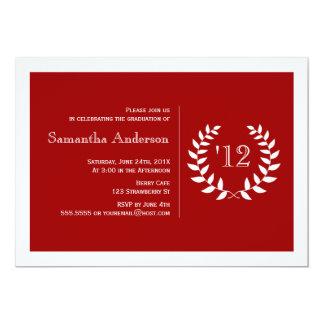 Convite formal da graduação do louro - vermelho