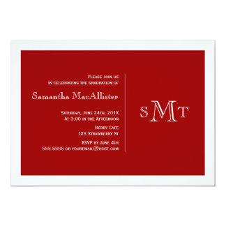 Convite formal da graduação do monograma -