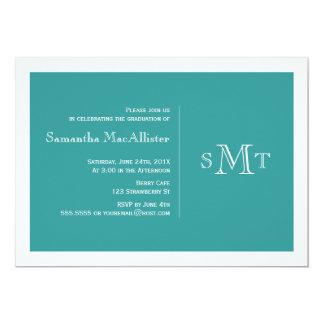 Convite formal da graduação do monograma - cerceta