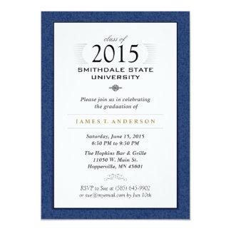 Convite formal do azul marinho & o branco da