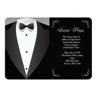 Convite formal do baile de formatura da ocasião convite 12.7 x 17.78cm