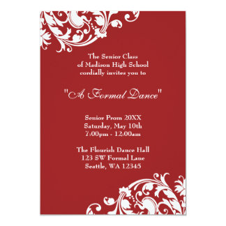 Convite formal do baile de formatura do Flourish