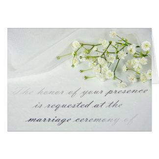 convite formal do casamento com respiração do bebê cartão comemorativo