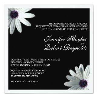Convite formal do casamento da margarida branca