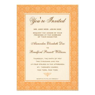Convite formal do casamento do damasco elegante