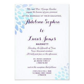 Convite formal do casamento do Hydrangea azul