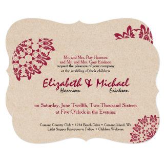 Convite formal do casamento do laço