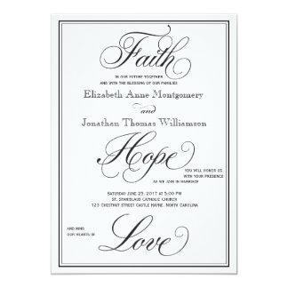 Cartão Convite formal do casamento do roteiro do amor da