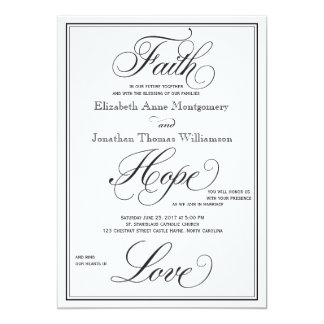 Convite formal do casamento do roteiro do amor da convite 12.7 x 17.78cm