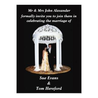 Convite formal do casamento preto