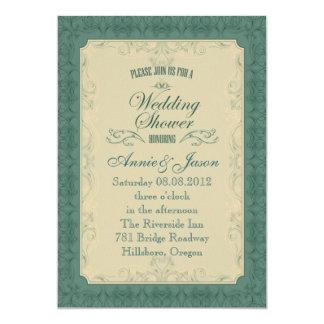 Convite formal do chá de casamento de Champagne da