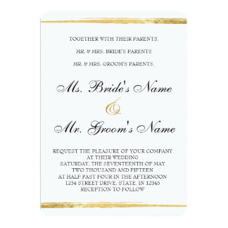 Convite formal do ouro & do casamento do preto
