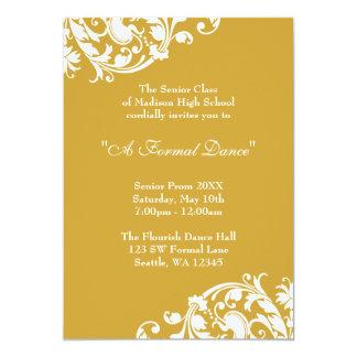 Convite formal do ouro e do baile de formatura do