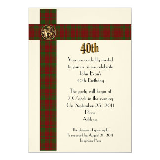 Convite formal do partido de aniversário de 40 convite 12.7 x 17.78cm