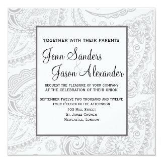 Convite formal elegante do casamento de Paisley