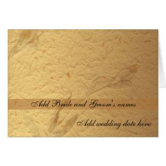 Convite formal floral bege do casamento cartão comemorativo