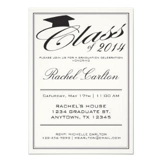 Convite formal simples da celebração da graduação