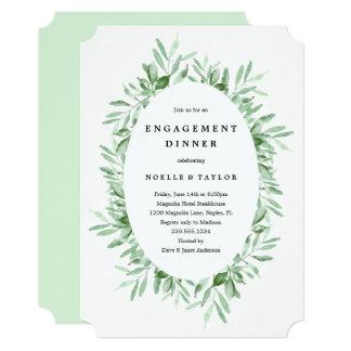 Convite frondoso do comensal do noivado