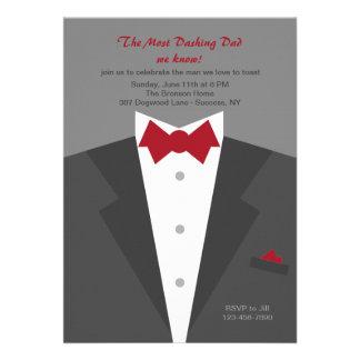 Convite galhardo do dia dos pais do pai